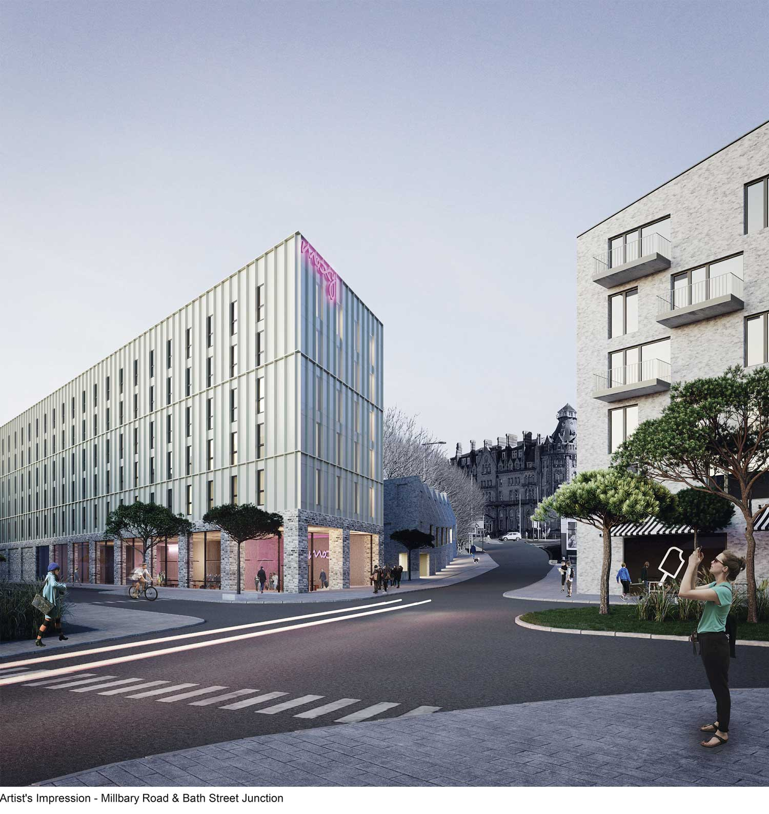 Hotel And Homes Plan For Site Of Plymouth Pavilions Car